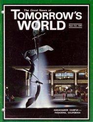 Tomorrows World 1970 (Vol II No 0910) Sep - Herbert W. Armstrong ...