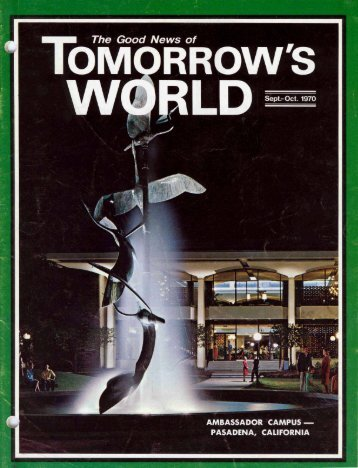Tomorrows World 1970 (Vol II No 0910) Sep - Herbert W. Armstrong ...