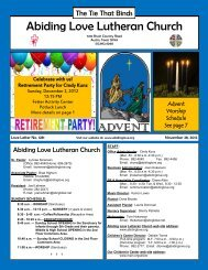 November 28, 2012 - Abiding Love Lutheran Church