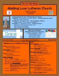 October 24, 2012 - Abiding Love Lutheran Church