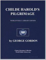CHILDE HAROLD'S PILGRIMAGE - World eBook Library - World ...