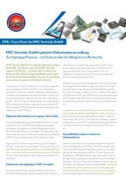 MSC Vertriebs GmbH optimiert Dokumentenverwaltung - ITML GmbH