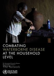 Combating waterborne disease at the household level