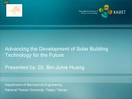 Advancing the Development of Solar Building Technology for the ...