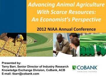 Advancing Animal Agriculture With Scarce Resources - National ...