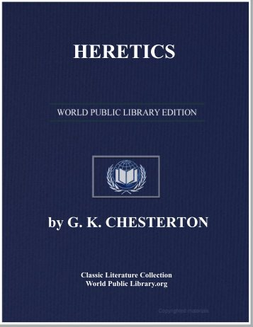 HERETICS - World eBook Library - World Public Library