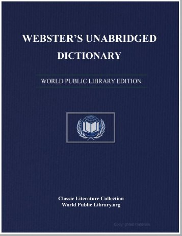 WEBSTER'S UNABRIDGED DICTIONARY - World eBook Library ...