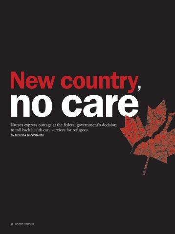 New country, no care - Registered Nurses' Association of Ontario