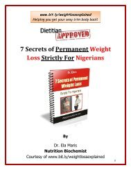 7 Secrets of Permanent Weight Loss Strictly For Nigerians
