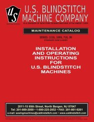 USBlindstitch Maintenance - New York Sewing Machines, Inc