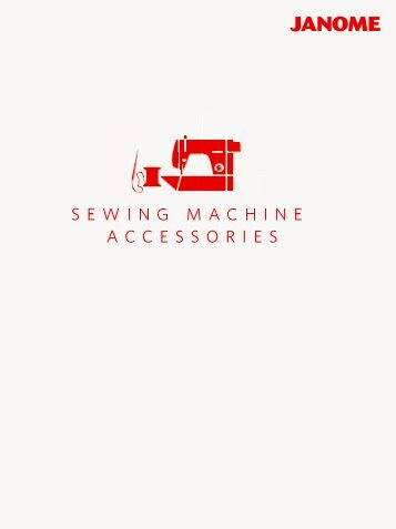 Catalog of accessories for JANOME sewing machines