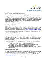 Helping your Child Sleep Alone - AnxietyBC