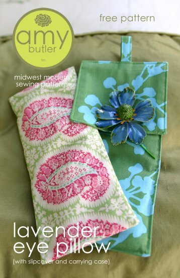 Free Eye Pillow Pattern