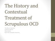 The History and Contextual Treatment of Scrupulous OCD - Anxiety ...