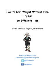 How to Gain Weight Without Even Trying: 50 Effective ... - DameNation