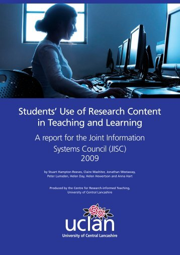 Students' Use of Research Content in Teaching and Learning - Jisc