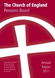 Annual Report 2011 - The Church of England