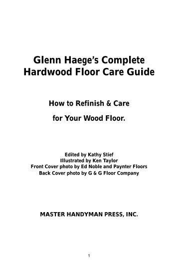 Hardwood Floor Book - Handyman Show