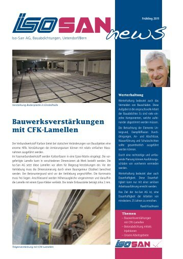 Bauwerksverstärkungen mit CFK-Lamellen - Iso-San AG