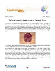 Reflectance Color Measurements Through Glass - HunterLab