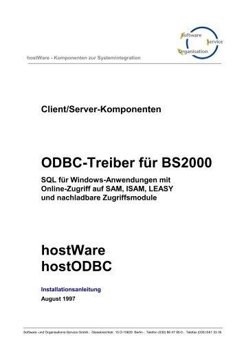 ODBC-Treiber für BS2000 - SOS-Berlin