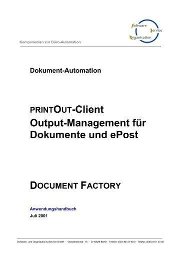 PRINTOUT Client Output Management für Dokumente ... - SOS-Berlin