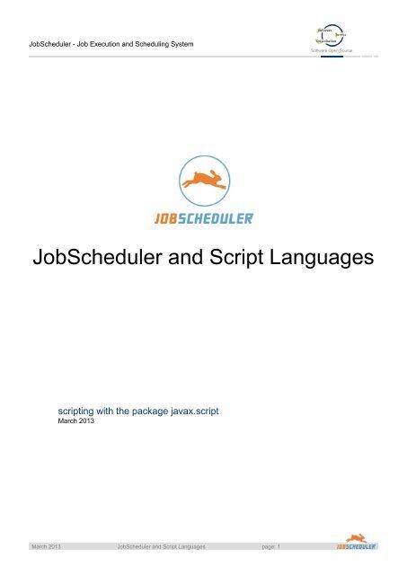 JobScheduler and Script Languages - Sos-berlin com