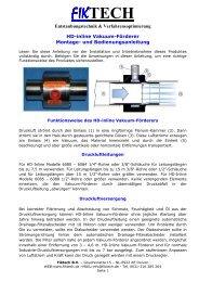 FiktechDruckluft Förderanlagen HD-Inline (Koaxialdüse)