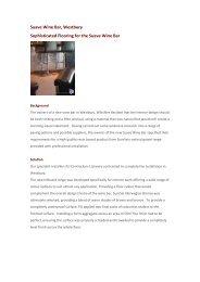 Suave Wine Bar, Westbury - Ecobuild