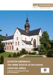 KLOSTER EBERBACH The WINE ESTATE of the former cistercian ...