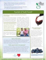 Two Page Summary - Fountain of Youth Found? - The Organic Center