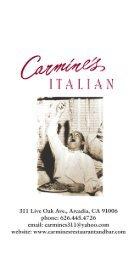 Carmine's - Carmines Restaurant And Bar