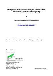 Artenschutzrechtlicher Fachbeitrag (pdf - 2.80 MB ) - Siegburg