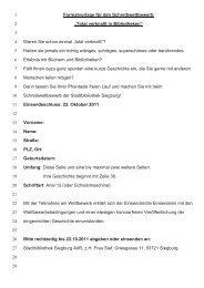 Teilnahmebedingungen zum Schreibwettbewerb - Siegburg