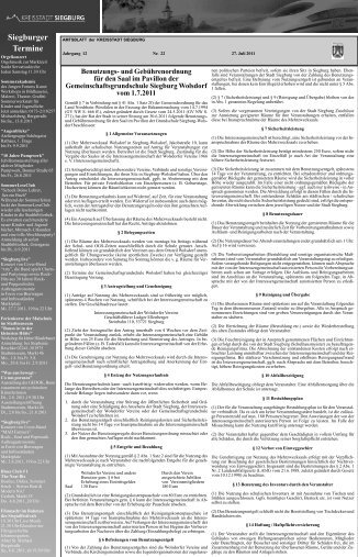 Amtsblatt 2011 - Kalenderwoche 30 (pdf) - Siegburg