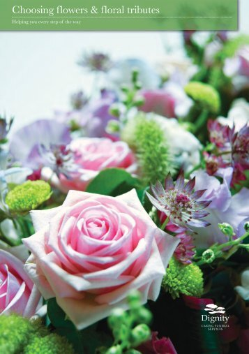 Choosing flowers & floral tributes - Dignity Caring Funeral Services