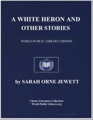 A WHITE HERON AND OTHER STORIES - World eBook Library ...