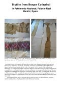 Report on the Textiles from Burgos Cathedral - Middelalder Centret - Page 2
