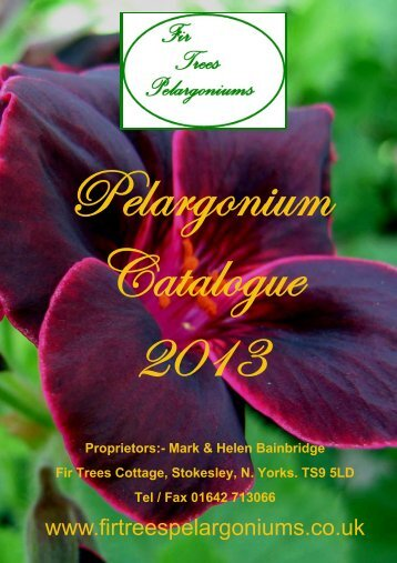 PDF Download - Fir Trees Pelargonium Nursery