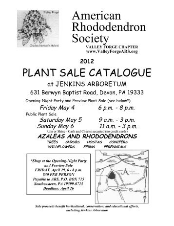 2012 Plant Sale Catalog (pdf printable format)
