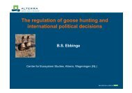 The regulation of goose hunting and international political ... - AEWA