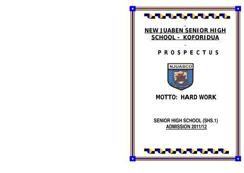 Student Prospectus - New Juaben Senior High School (NJUASCO)