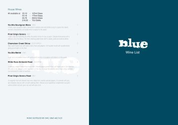 Wine List - Blue Bar