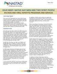 ISSUE BRIEF: NATIVE GAY MEN AND TWO SPIRIT PEOPLE