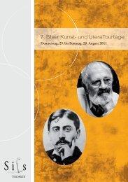 7. Silser Kunst- und LiteraTourtage - KUBUS-SILS.CH