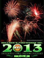 2013 Consumer Catalog - Kellner's Fireworks