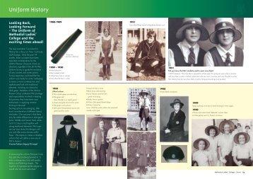 Uniform History - Methodist Ladies' College