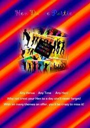 Hen Night Parties - LJs School of Dance and Drama Whiteley ...