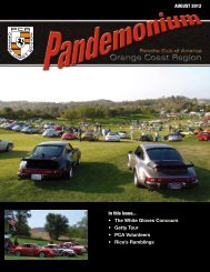 AUGUST 2012 In this issue... The White Gloves Concours Getty Tour ...