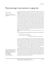 Pharmacologic interventions in aging hair